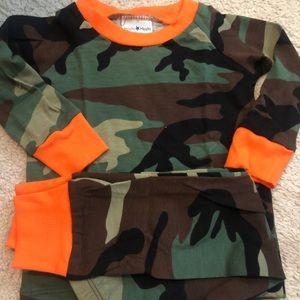cat & cow Pajamas - Camo pajamas camouflage PJS orange long sleeve new